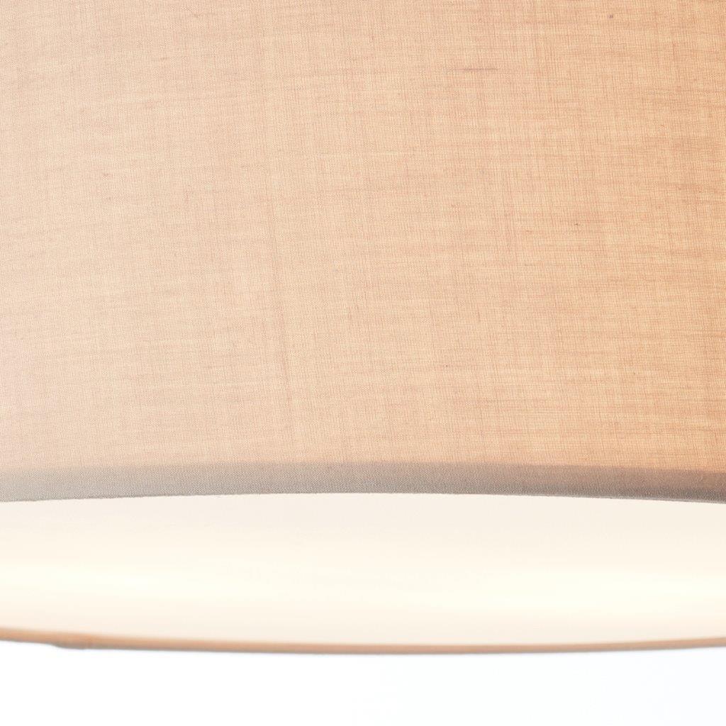 Lüttenhütt Deckenleuchte »Lüchte«, E27, Stoffschirm uni, greige, Deckenlampe Ø 45 cm