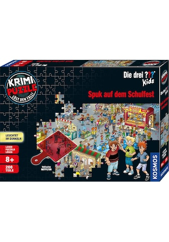 Kosmos Puzzle »Krimipuzzle Die drei ??? Kids 200 Teile / Spuk auf dem Schulfest«,... kaufen