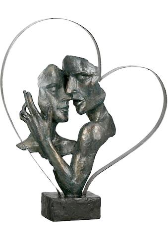 GILDE Dekofigur »Skulptur Essential, bronzefarben/braun«, Dekoobjekt, Höhe 37, Pärchen... kaufen