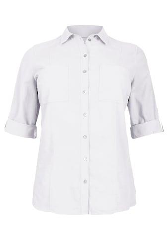 VIA APPIA DUE Klassische Hemdbluse in unifarbenem Design Plus Size kaufen