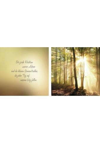 queence Leinwandbild »Sonnenstrahlen«, (Set), 2er-Set kaufen