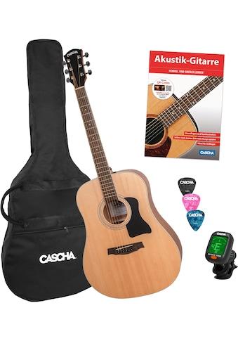 Cascha Westerngitarre »Stage Series«, inkl. Gitarrenschule und Stimmgerät kaufen