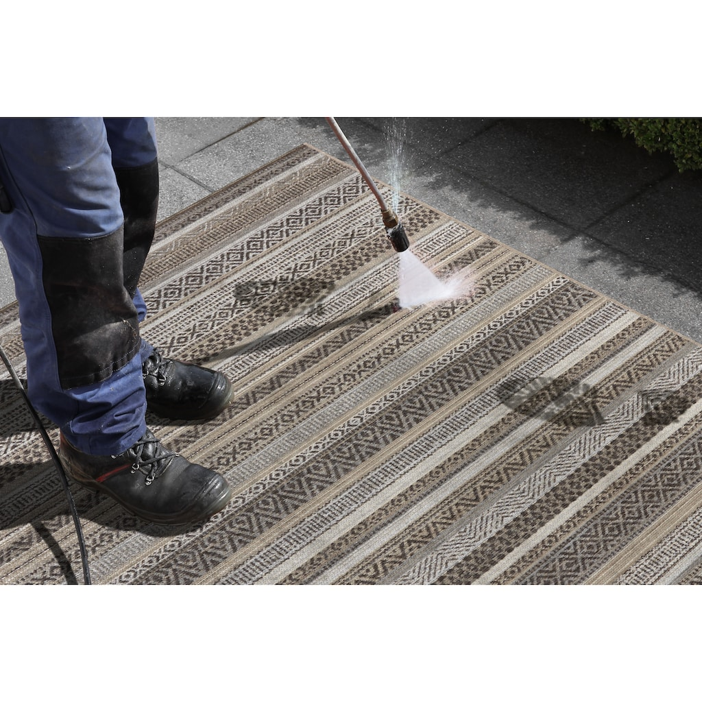 ELLE DECORATION Teppich »Torcy«, rechteckig, 6 mm Höhe, In- und Outdoor geeignet, Wohnzimmer
