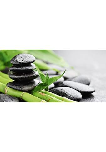 Home affaire Glasbild »Bambus und Steine«, in 2 Größen kaufen