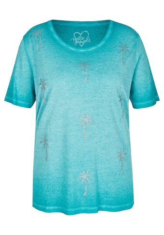 VIA APPIA DUE Feminines T-Shirt mit Glitzer-Print kaufen