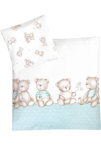 Julius Zöllner Kinderbettwäsche »Bärenland mint«, mit Bären kaufen