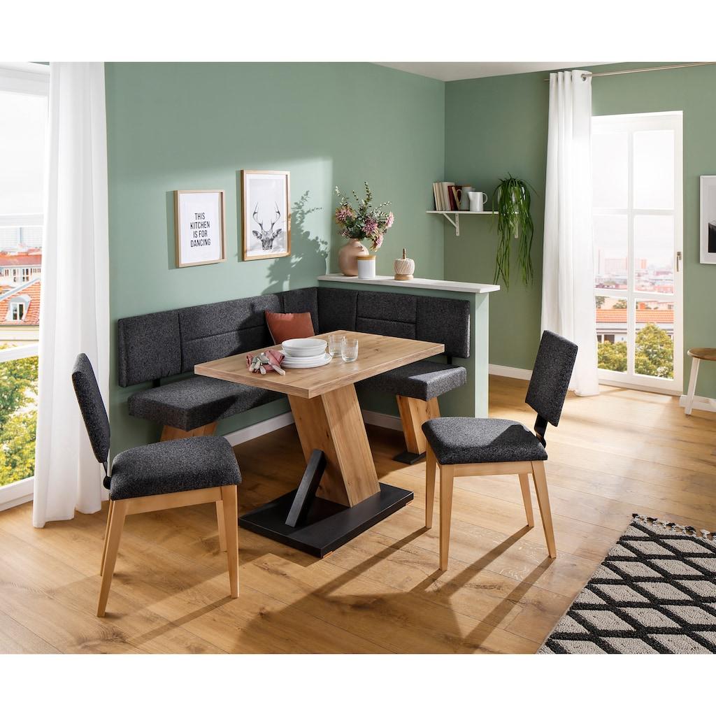 Home affaire Eckbankgruppe »Zeppelin«, (Eckbank, Tisch und 2 Stühle)