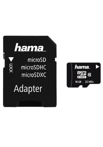 Hama microSDHC 16 GB Class 10, 22MB/s + Adapter/Mobile »microSD Memory Card« kaufen