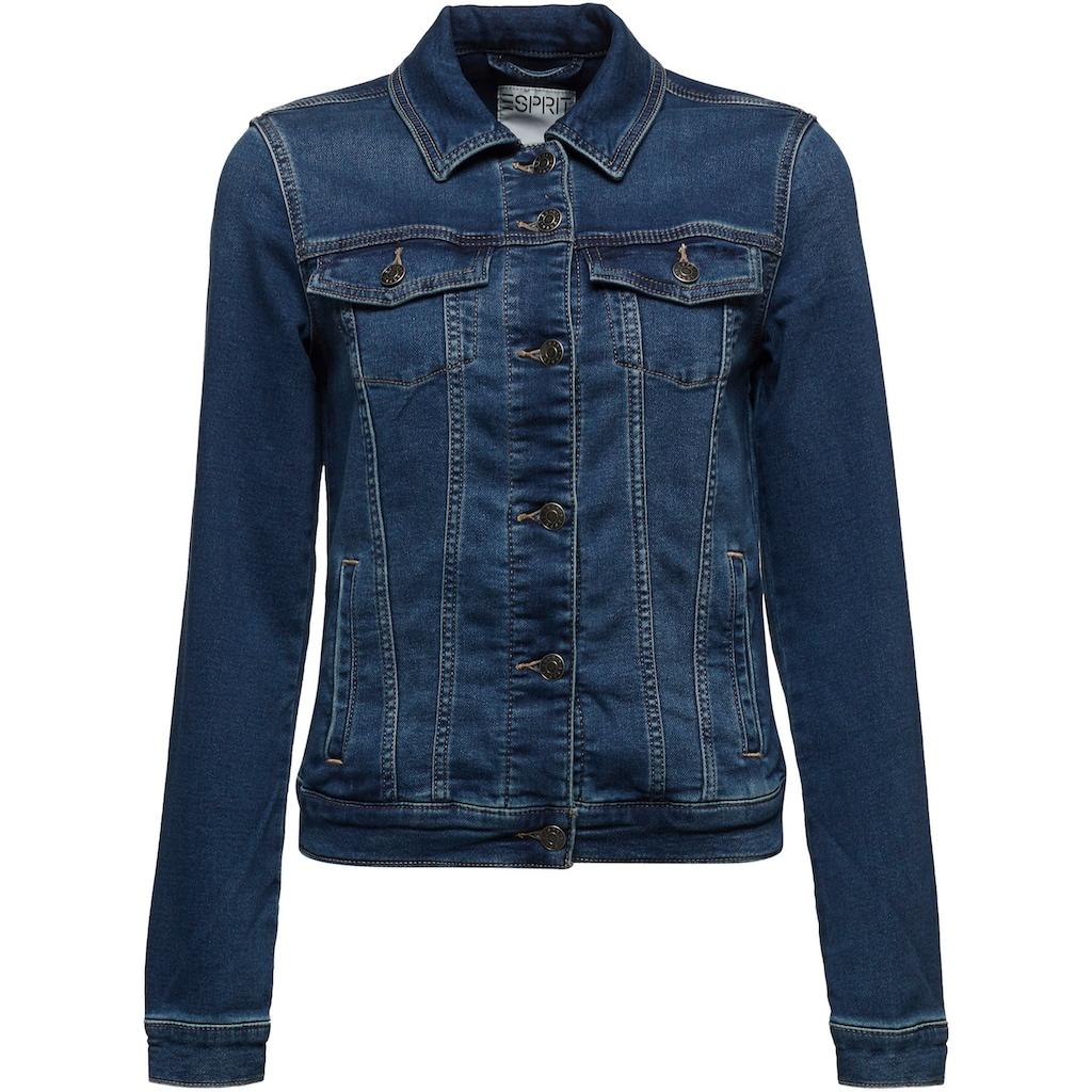 Esprit Jeansjacke, aus weichem Sweat-Denim
