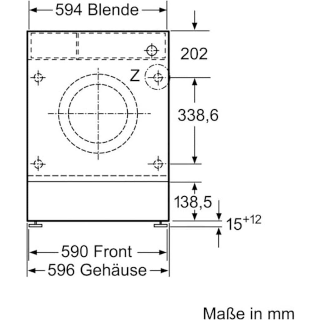 SIEMENS Einbauwaschmaschine »WI14W442«, iQ700, WI14W442, 8 kg, 1400 U/min
