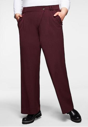 Sheego Stoffhose, »Die Weite« mit asymmetrischem Verschluss kaufen