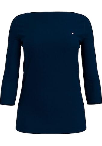 Tommy Hilfiger 3/4-Arm-Shirt »BOAT NECK TEE 3/4«, mit Tommy Hilfiger Logo-Flag auf der... kaufen