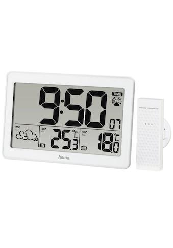 Hama Funk Wetterstation mit Thermometer Barometer Funkuhr Wecker »Jumbo, inkl. Außensensor, 30 m« kaufen