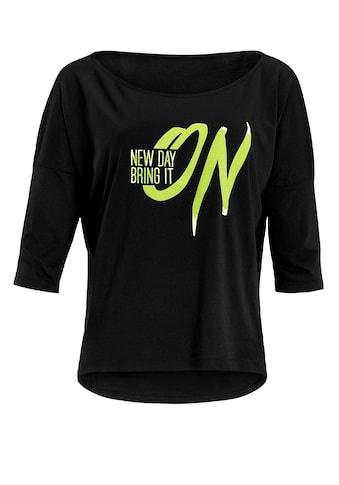 Winshape 3/4-Arm-Shirt »MCS001 ultra leicht«, mit Neon gelbem Glitzer-Aufdruck kaufen