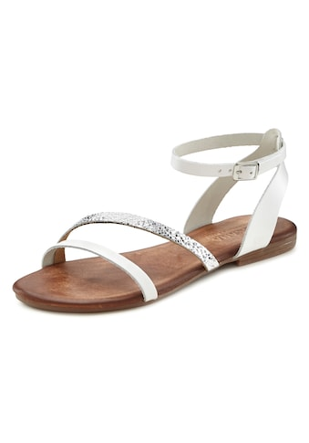 LASCANA Sandale, aus Leder mit Glitzerdetails kaufen