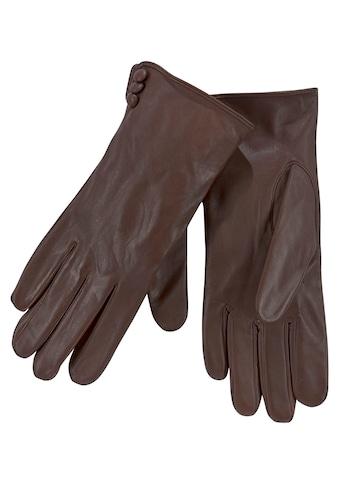 J.Jayz Lederhandschuhe, mit bezogenen Lederknöpfen kaufen