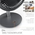 CSL Akku Tischventilator mit 14 cm Ø »USB Ventilator Mini Desk Fan«