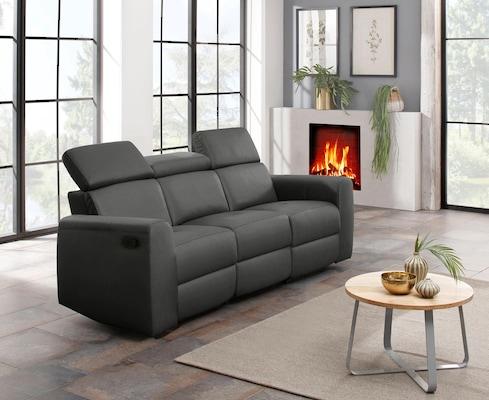 schwarzes Relaxsofa