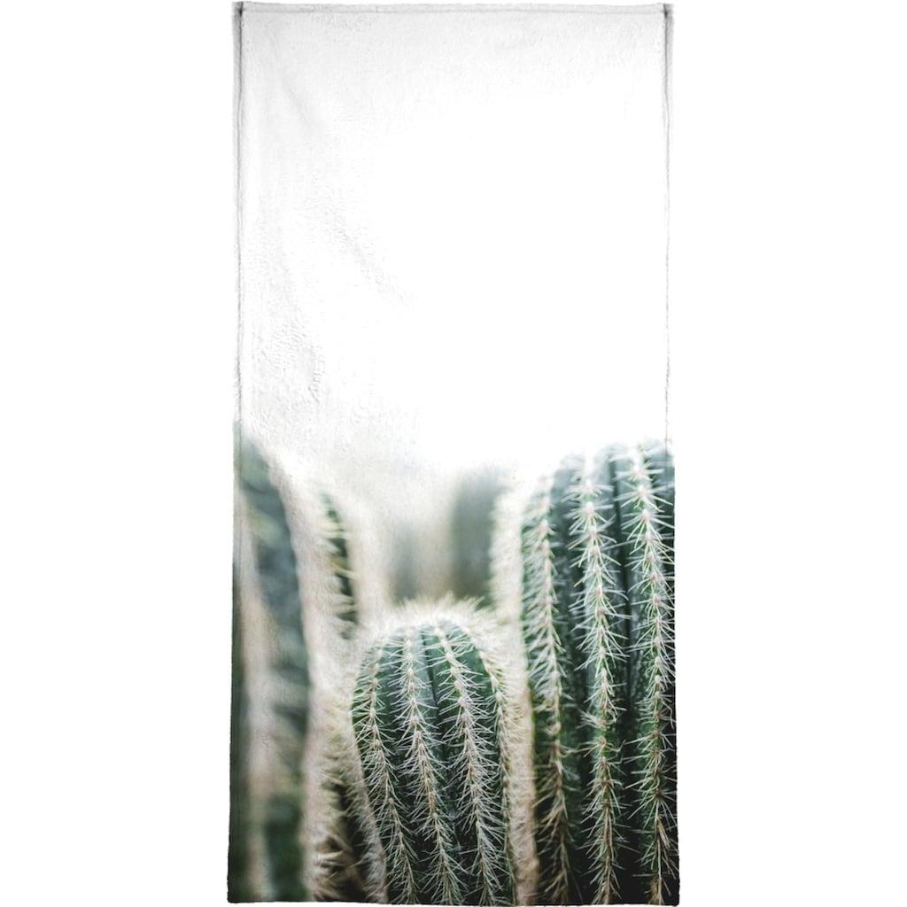 Juniqe Handtuch »Cactus 1«, (1 St.), Weiche Frottee-Veloursqualität