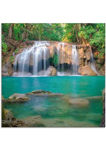 Artland Glasbild »Wasserfall im Wald National Park«, Gewässer, (1 St.) kaufen