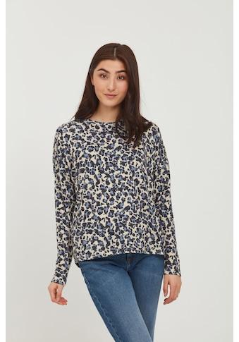 b.young Sweatshirt »BYSKY LEO PULLOVER - 20810266«, Longsleeve mit Leo-Print kaufen