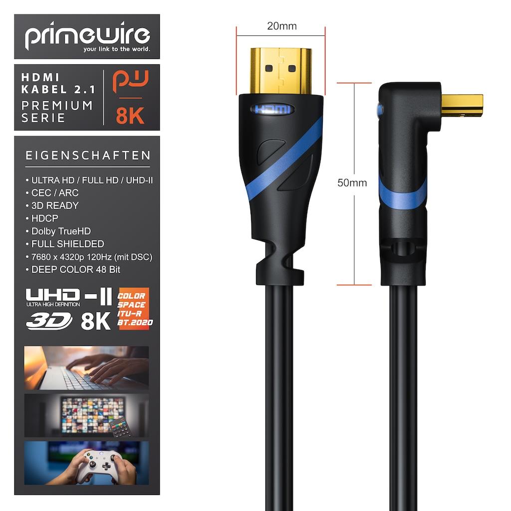 Primewire Premium HDMI 2.1 Kabel 90° gewinkelt