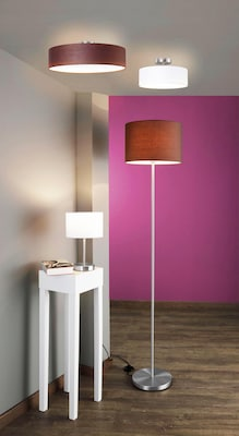 Moderne Stehlampe und Deckenleuchten