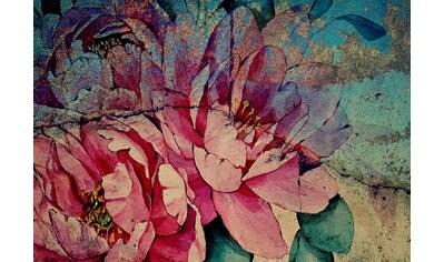 CONSALNET Vliestapete »Bunte Vintage Blumen«, in verschiedenen Größen kaufen