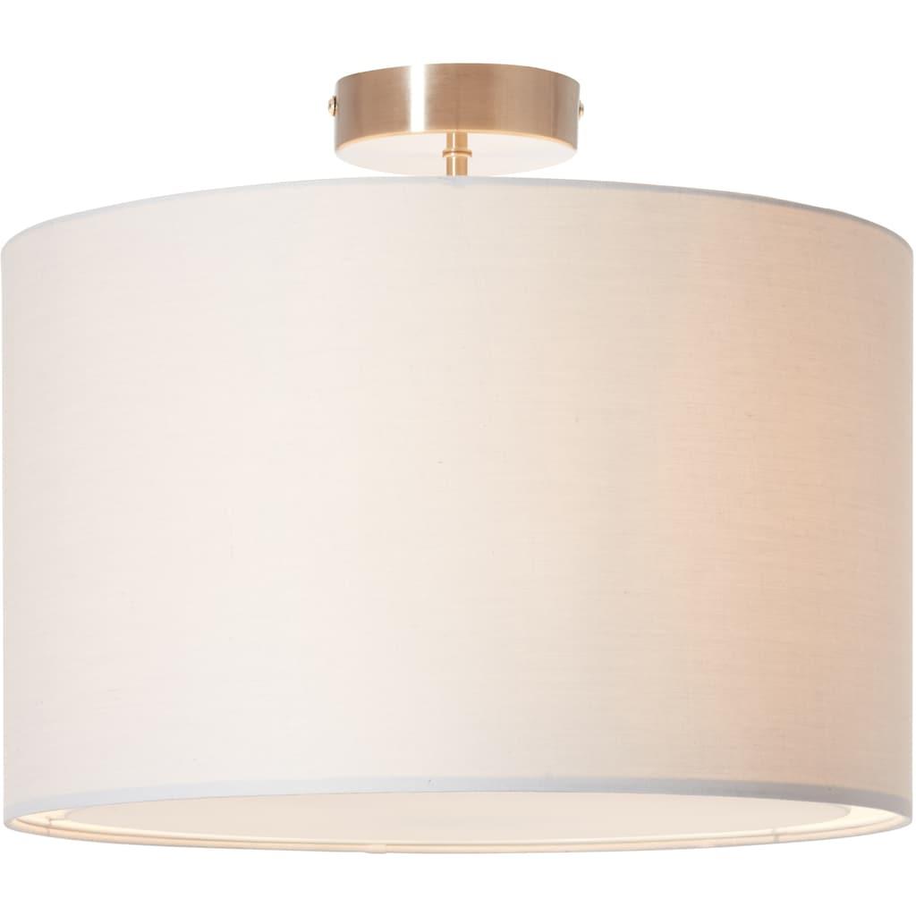 Lüttenhütt Deckenleuchte »Lüchte«, E27, Deckenlampe mit Stoffschirm hellgrau, Ø 40 cm, Höhe 32 cm