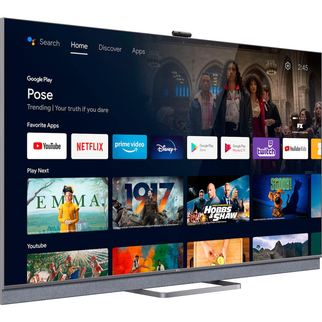 """TCL QLED Mini LED-Fernseher »65C825X1«, 164 cm/65 """", 4K Ultra HD, Android TV-Smart-TV, Android 11, Onkyo-Soundsystem"""
