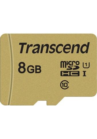 Transcend »microSDXC/SDHC 500S« Speicherkarte (Lesegeschwindigkeit maximal 95 MB/s) kaufen