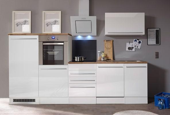 Küchenzeile in Weiß Hochglanz
