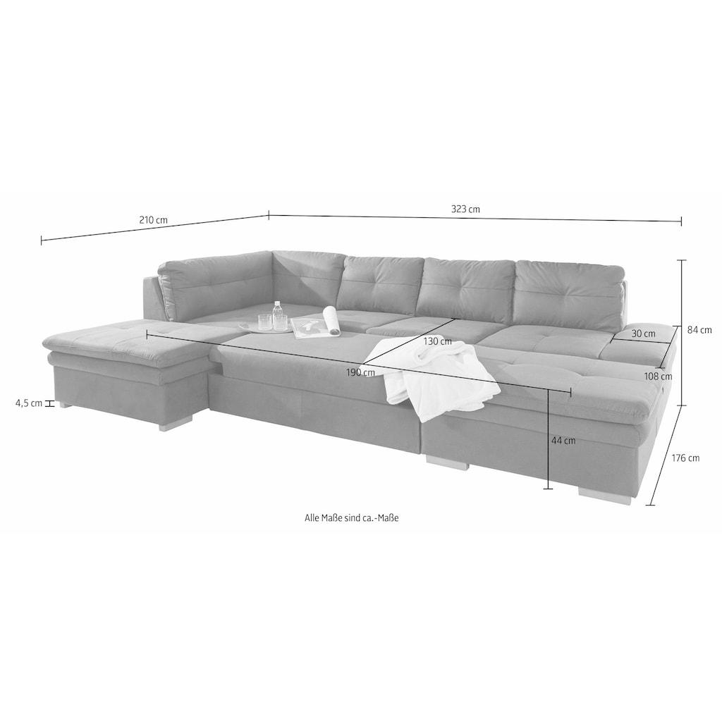 COTTA Wohnlandschaft, mit Sitztiefenverstellung, wahlweise mit Bettfunktion