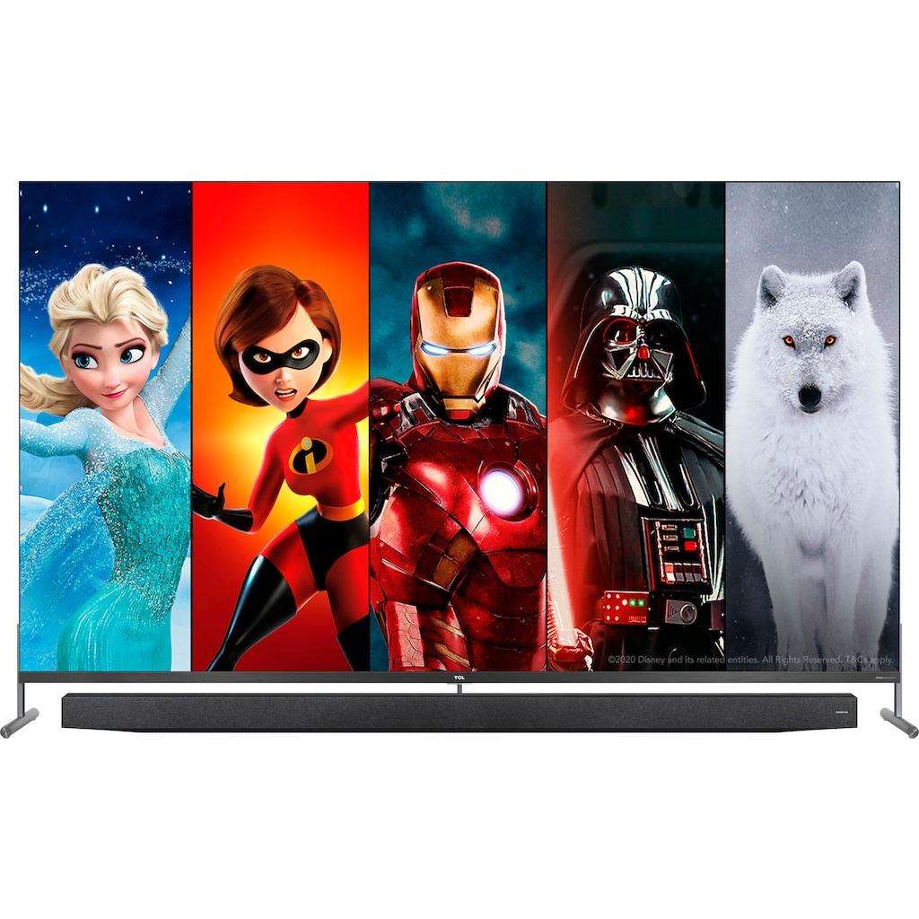 "TCL QLED-Fernseher »75X915X1«, 189 cm/75 "", 8K, Smart-TV, mit integrierter, ausfahrbarer Kamera und ONKYO Soundsystem"