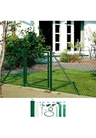 GAH Alberts Maschendrahtzaun, 100 cm hoch, 15 m, grün beschichtet, mit Bodenhülsen kaufen