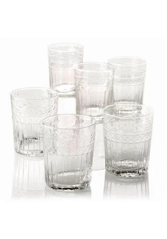 Gläser-Set, (Set, 6 tlg.), Recycling-Glas, 6-teilig kaufen