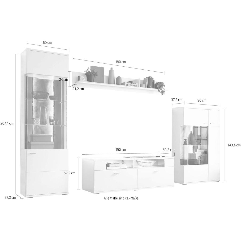 set one by Musterring Wohnwand »TACOMA«, (Set, 4 St.), Typ 02, mit Wandboard