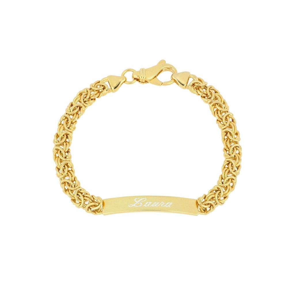 Firetti Armband »ID-Armband Gravur-Artikel, glänzend, vergoldet, halbmassiv«