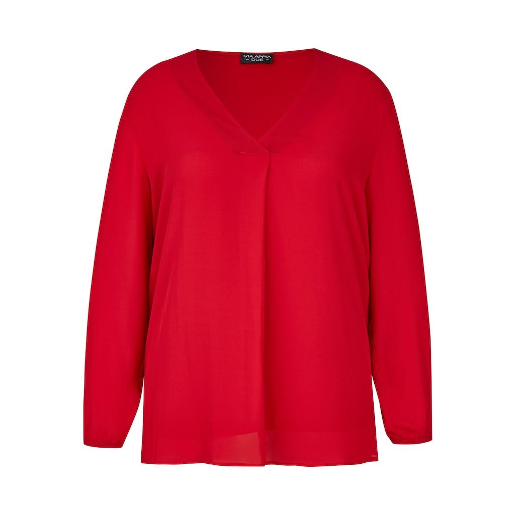 VIA APPIA DUE Zarte Bluse mit integriertem Untertop Plus Size