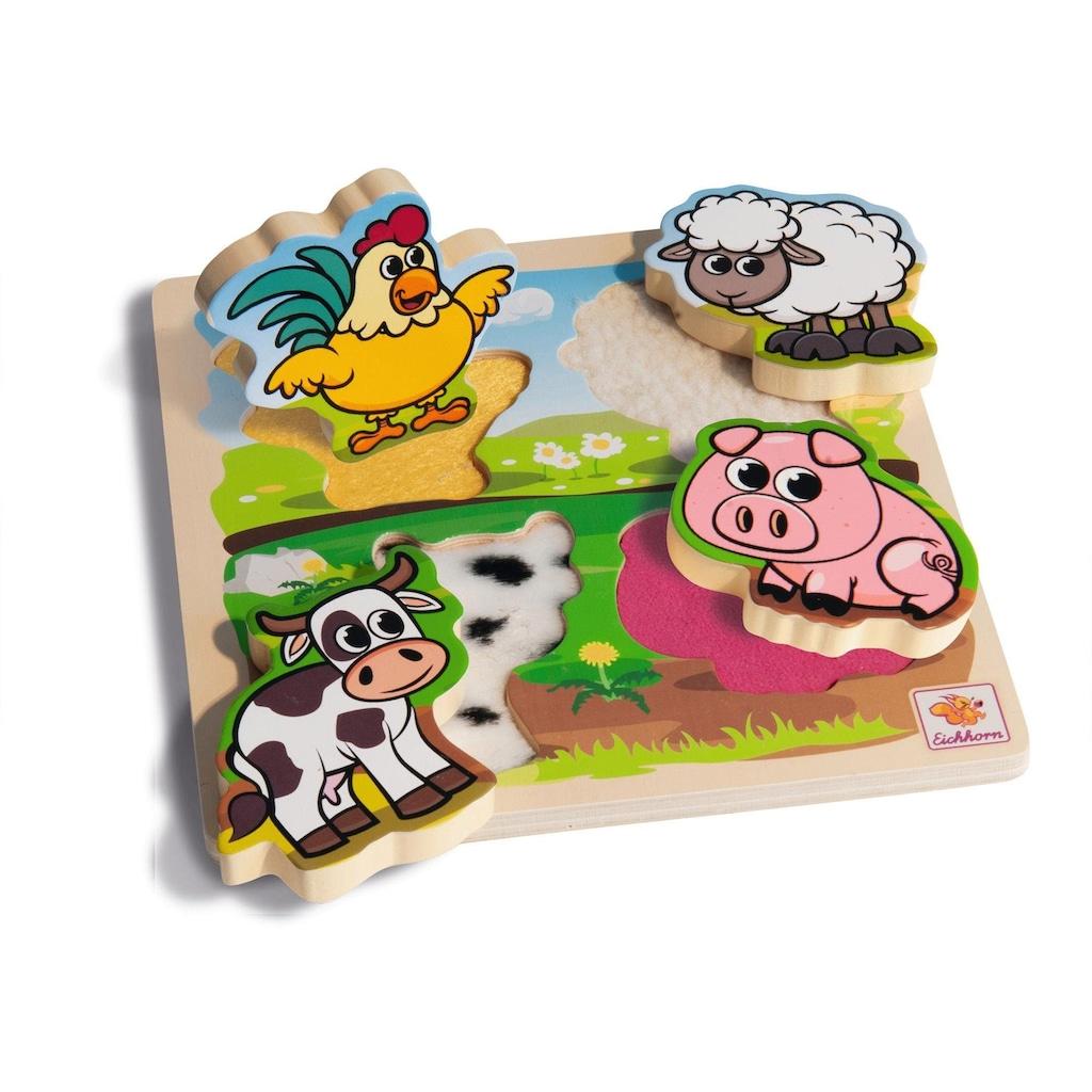 Eichhorn Steckpuzzle »Fühl-Puzzle mit Stoff«