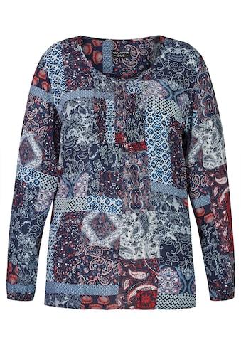 VIA APPIA DUE Fröhliche Bluse mit buntem Muster Plus Size kaufen