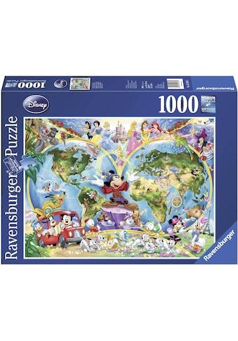 Ravensburger Puzzle »Disney's Weltkarte«, Made in Germany, FSC® - schützt Wald - weltweit kaufen
