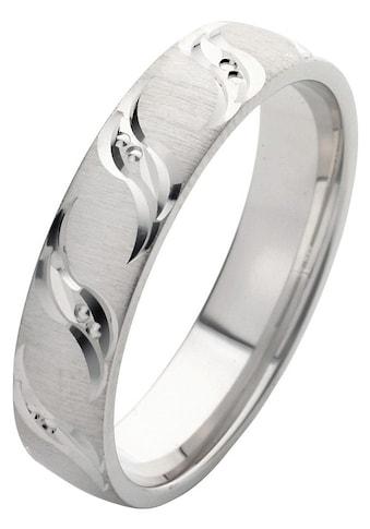 Firetti Trauring mit Gravur »5,0 mm, quer gebürstet, Diamantschnitt« kaufen