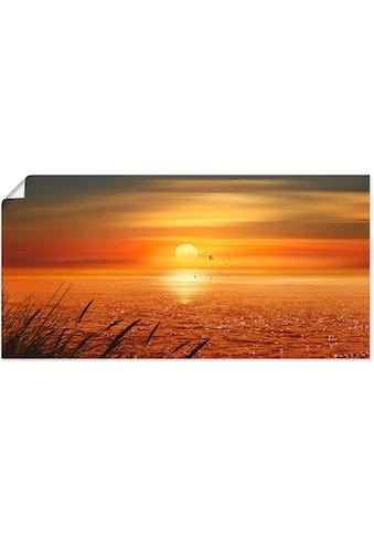 Artland Wandbild »Sonnenuntergang über dem Meer«, Sonnenaufgang & -untergang, (1 St.),... kaufen
