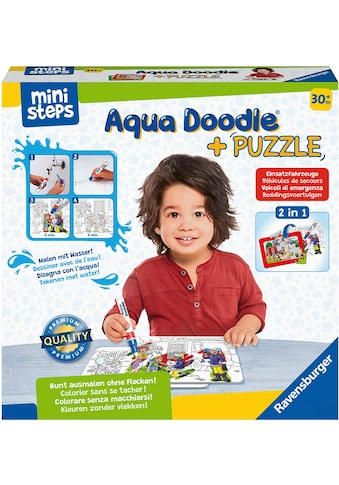 Ravensburger Kreativset »ministeps® Aqua Doodle® Puzzle: Einsatzfahrzeuge«, Made in... kaufen