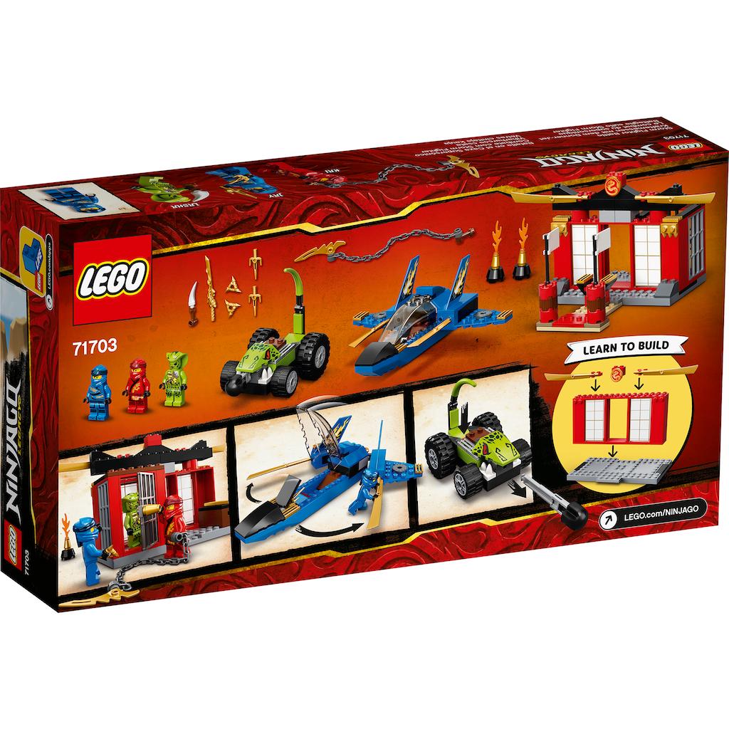 LEGO® Konstruktionsspielsteine »Kräftemessen mit dem Donner-Jet (71703), LEGO® NINJAGO®«, (165 St.), Made in Europe