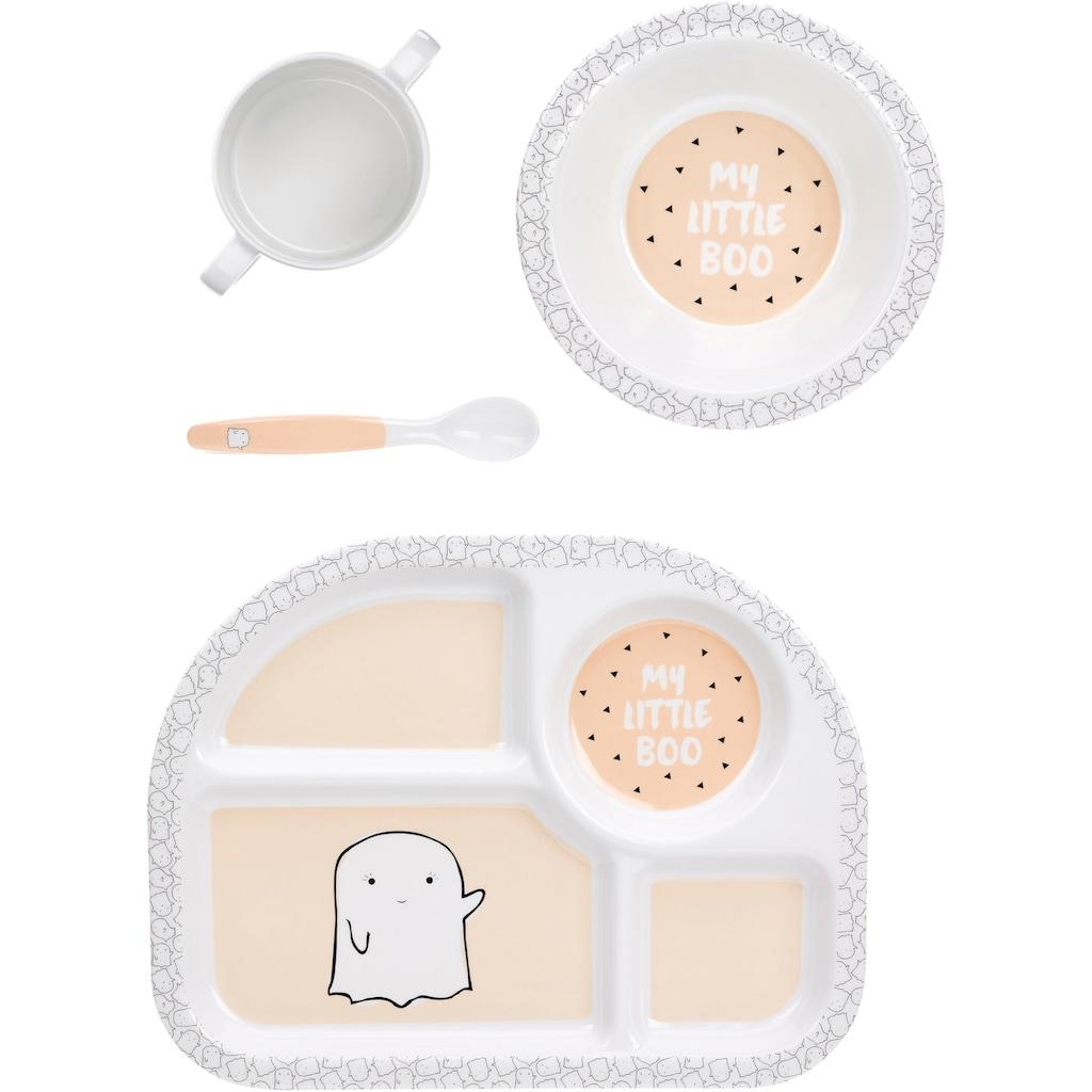 LÄSSIG Kindergeschirr-Set »Little Spookies, Peach«, (4 tlg.)