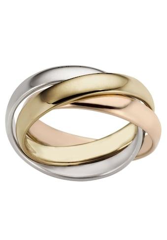 Firetti Goldring »3-Fach verschlungen, Tricolor-Optik, glänzend, massiv« kaufen