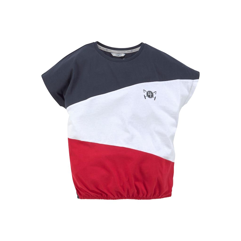 TOM TAILOR Polo Team Fledermausshirt, mit modischen Teilungsnähten