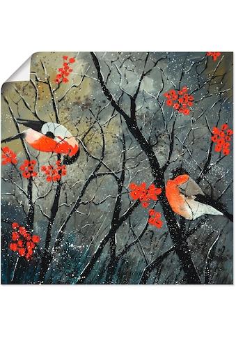 Artland Wandbild »rote Vögel im Winter«, Vögel, (1 St.), in vielen Größen &... kaufen